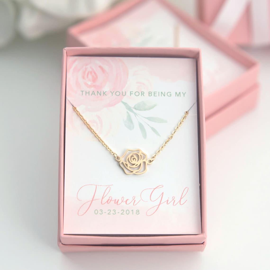 Flower Girl Rose Necklace