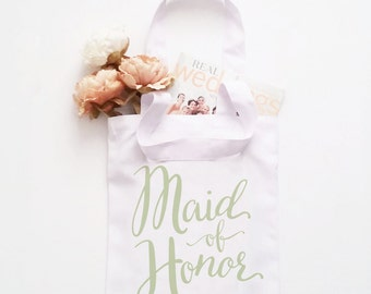 Bridal Party Tote Bags - Maid of Honor Bridesmaid Bride Wedding Bachelorette, Celebration Totes, Personalized, Wedding Totes, Custom Tote