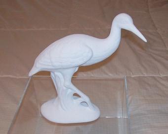Ceramic Snow White Anhinga Bird