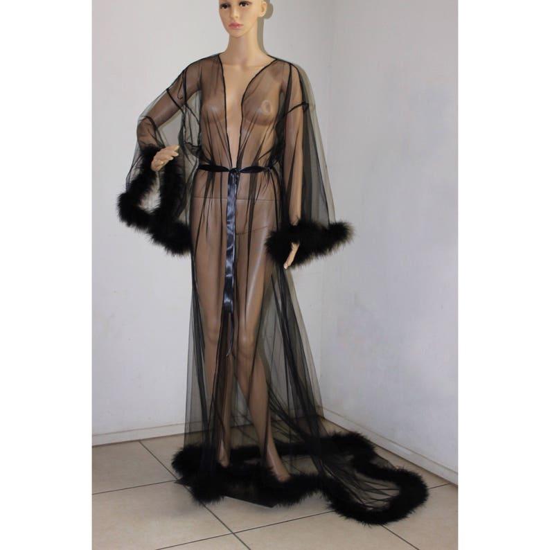 11ab12c83b8c84 Giselle pure bont Robe Lingerie zwart met satijn banden