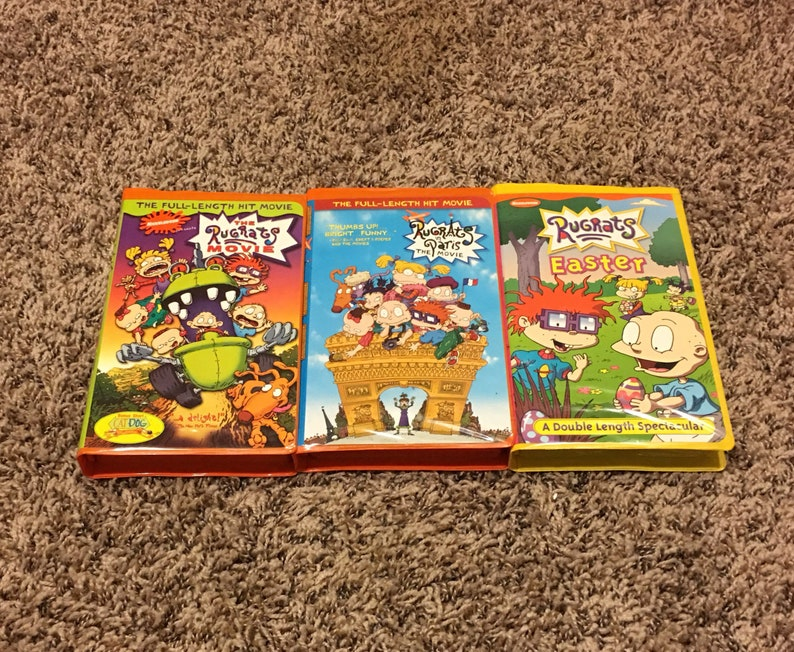 Vintage Nickelodeon Vhs The Rugrats Movie Rugrats In Paris Etsy
