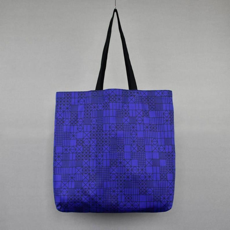 Handmade Gift For Her Knitting Bag Beach Project Bag Birthday Gift Best Friend Gift Weekender Bag Pi Pattern Geometric Tote Bag
