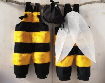 Baby Bee, Set, Dungarees, Baby Pants, Kids Costume, Baby Costume, Romper, Baby Costume Pants, Carnival Costume, Baby Pants, Baby Suit,