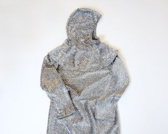 chain mail and hood for knight costume for kids