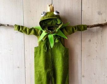 Baby Frog, Dungarees, Baby Pants, Kids Costume, Baby Costume, Romper, Baby Costume Pants, Carnival Costume, Baby Pants, Baby Suit, Disguise
