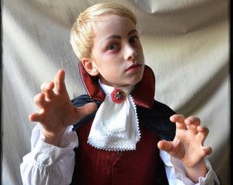 Jabot, Dracula, Dracula Costume, Kids Costume, Carnival Costume, Ruffle Shirt, Vampire, Vampire Costume, Carnival, Carnival Costume, Jecken