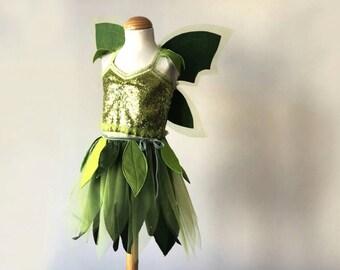 Tinkerbell Kostüm SET