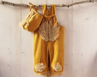 Baby lion, dungarees, baby pants,lion cub,kids costume,baby costume, rompers, baby costume pants, carnival costume, baby pants, baby suit