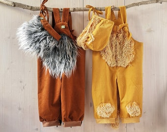 Mini-maii, baby SET, pants + hat, baby pants, dungarees, kids costume, baby costume,unicorn,lamb, deer,lion,bee,dragon,tiger,hedgehog,rabbit