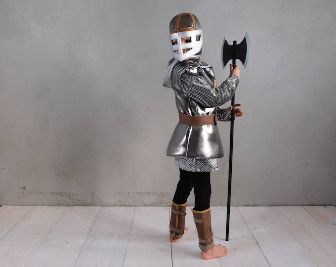Featured listing image: knight, knight costume, Middle Ages,Knight Costume, LARP, Medieval, Costume for Kids, Halloween, Halloween Costume, Child Costume Knight,