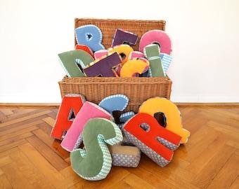 Ein Kuschelbuchstabe, ABC, Buchstabenkissen