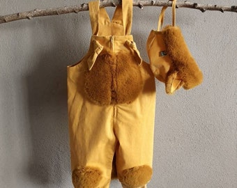 Set Baby lion, dungarees, baby pants, kids costume, baby costume, rompers, baby costume pants, carnival costume, baby pants, baby suit