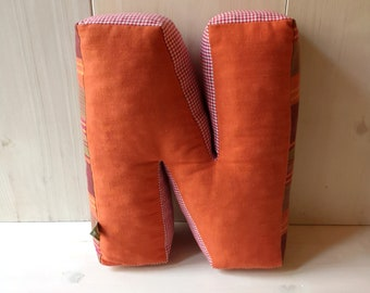 Sale! choose one! cuddly letter, letter Pillow