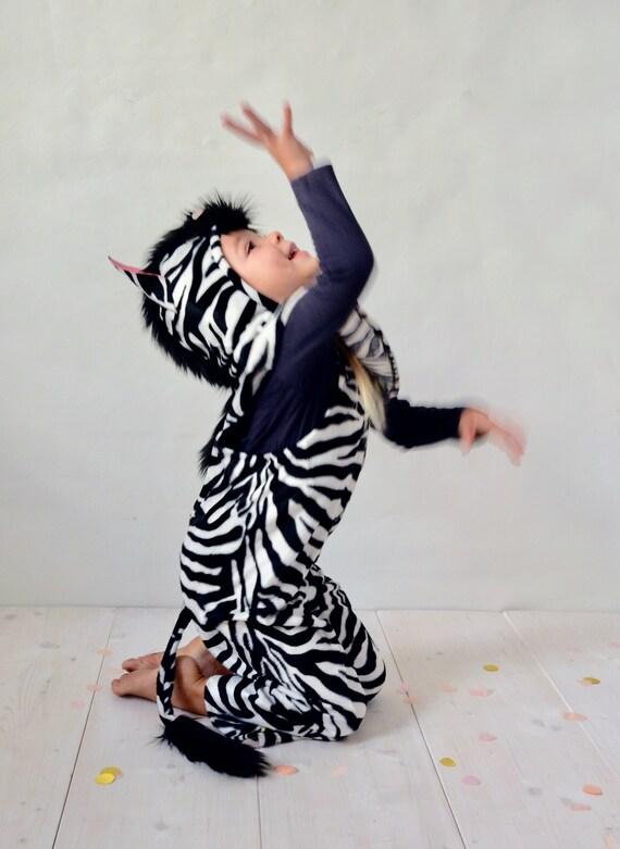 Zebrakostüm Kinderkostüm Zebra Halloween Halloweenkostüm Pferd Pferdekostüm Latzhose Karnevalskostüm Faschingskostüm Kinder Hose