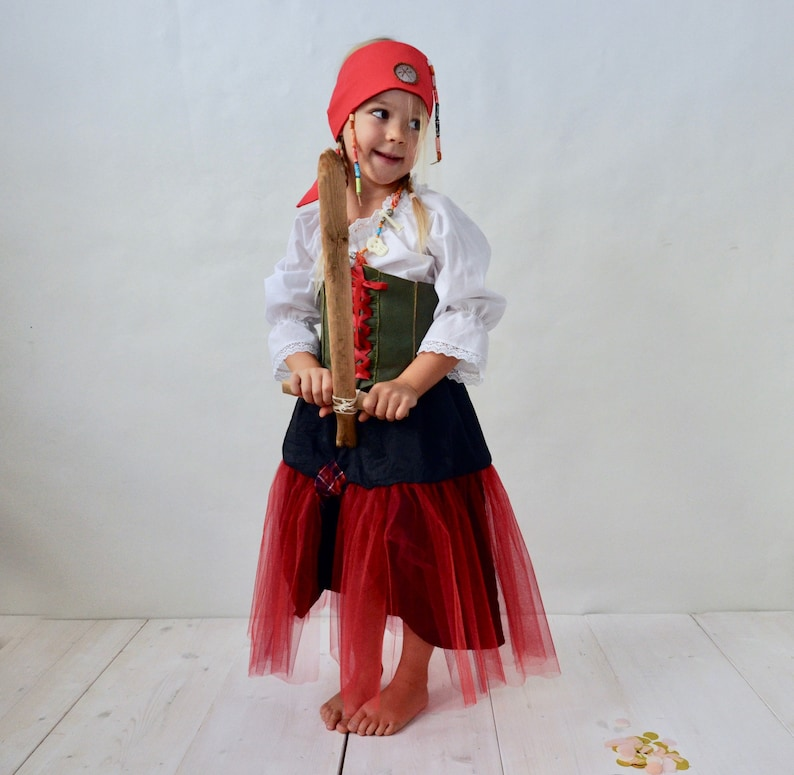 96f5b4bec8d Pirate Girl Skirt Pirate Costume Kids Costume Pirate Skirt