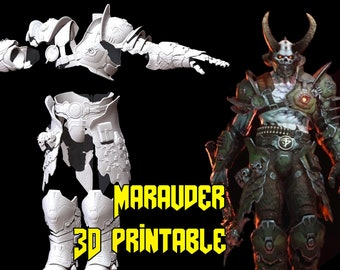 Marauder Doom Eternal 3d Print Etsy