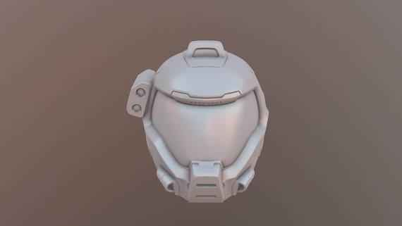 Doom Quake Arena Helmet 3d Print Stl Etsy
