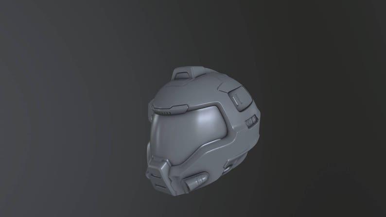 Doom Quake Arena helmet 3d print STL