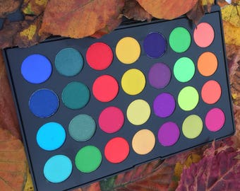 PRE-ORDER ONLY (Ships on or after june 10th) Psychedelic eyeshadow Palette Shimmer eyeshadows  Pigmented eyeshadow Bright eyeshadow cruelty