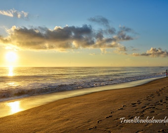 Outer Banks North Carolina Beach Photography, Sunrise Print, Coastal Decor, Landscape Photo, Fine Art Print