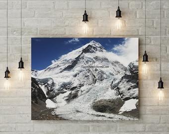Mt. Everest Canvas, Nepal Mountain, Mount Everest Canvas Wall Art, Mountain Photography