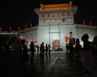 Xi'an South Gate China Travel Photograph, Xi'an City Wall Chinese Photo
