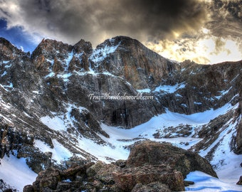 Longs Peak Rocky Mountain Photography, Colorado Art, Wall Art, Mountain Print Home Decor