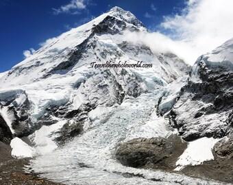 Mt. Everest Print, Nepal Mountain Photography, Mount Everest Photography, Travel Photography