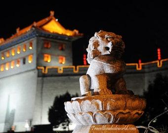 Xi'an China Dragon, Asian Dragon Wall Art, Chinese Dragon Photo, China Photography