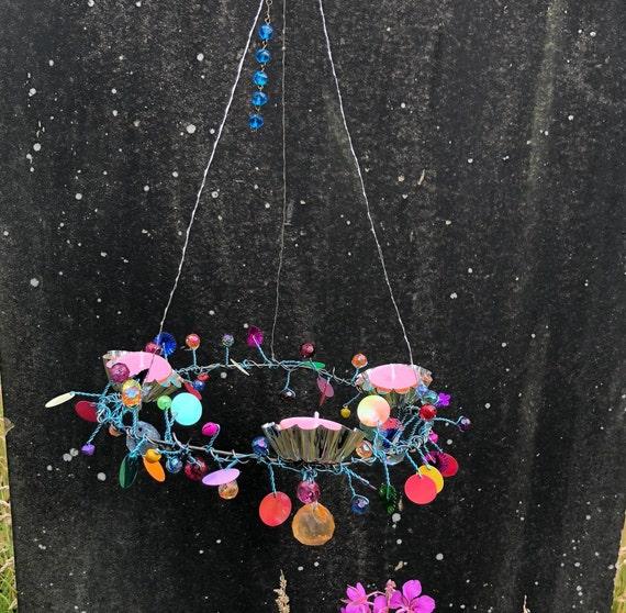 Multicoloured Hanging Candelabra