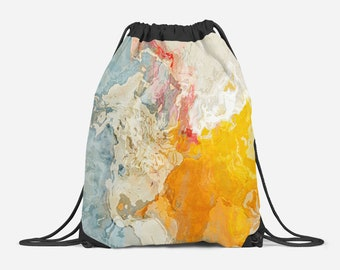 c969c22ff9ec Drawstring Gym Bag with Abstract Art