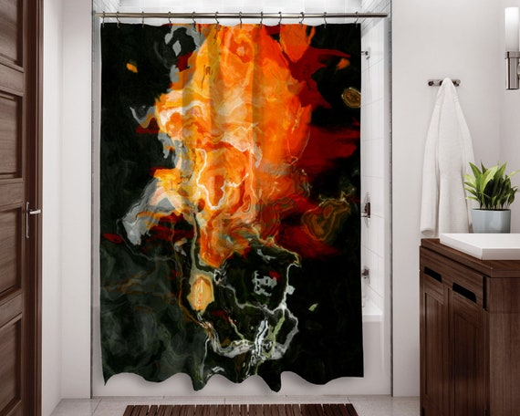 Abstract Art Shower Curtain Contemporary Bathroom Decor