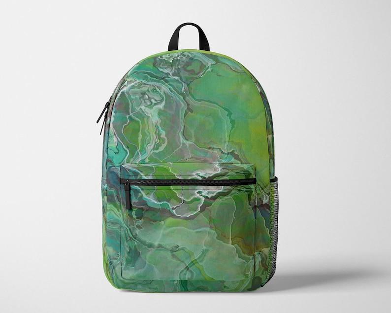 Modern Satchel Contemporary School Rucksack Adjustable Ergonomic Padded Shoulder Straps Laptop Pouch Abstract Art Backpack Speculation
