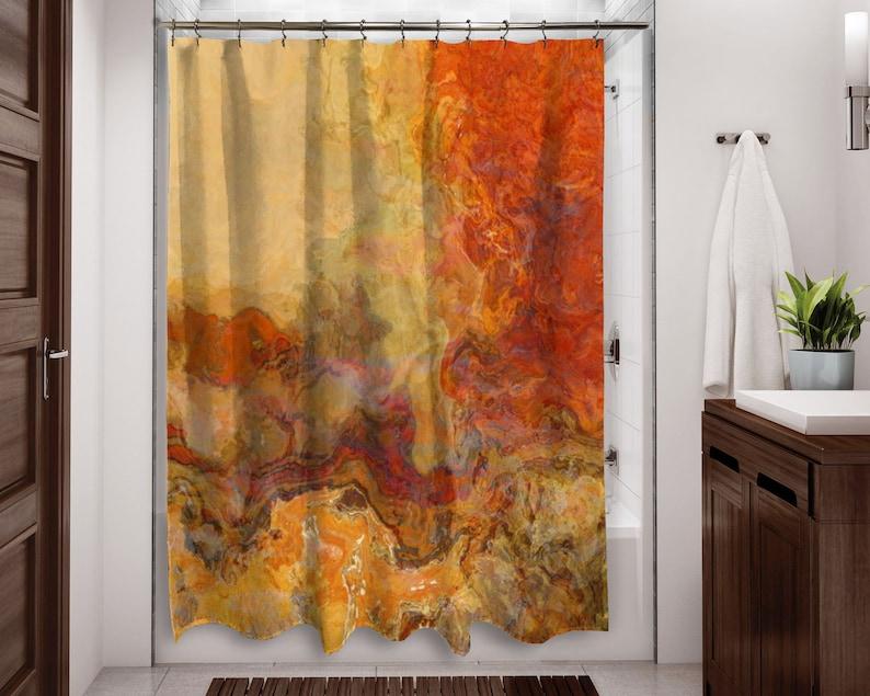 Abstract Shower Curtain Contemporary Bathroom Decor