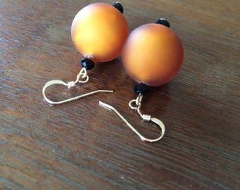 Murano topaz glass earrings