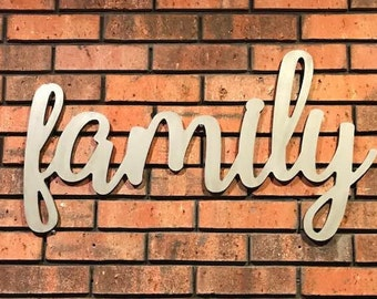 Family Wood Sign - Large Family Wood Sign - Rustic Farmhouse Decor - Farmhouse Sign - Wooden Letters - Wooden Phrase - Family Sign - Family