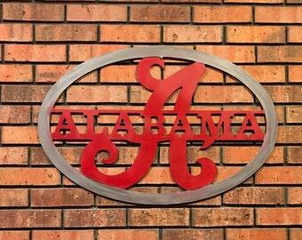 Crimson Tide Wall Hanging - Large Roll Tide Sign - Crimson Tide Decor - Roll Tide Decor - Alabama University - Alabama Dorm Room Decor - UA