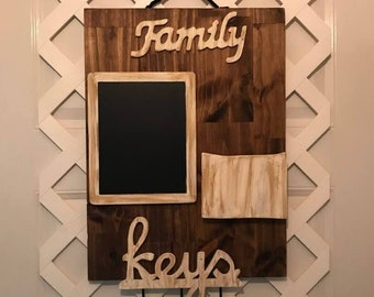 Farmhouse Kitchen Decor - Command Center - Message Board Organizer - Message Center - Mail Organizer - Kitchen Organizer - Family Gift