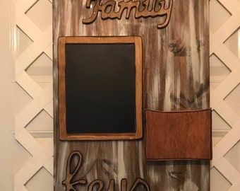 Farmhouse Kitchen Organizer - Message Board Organizer - Command Center - Message Center - Mail Organizer - Entryway Organizer - Key Rack