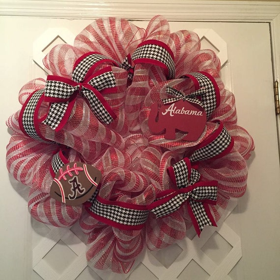 Alabama Roll Tide Wreath - Roll Tide Wreath - Bama Wreath - Deco Wreath - Nick Saban - SEC Football - Roll Tide - Collegiate Sports