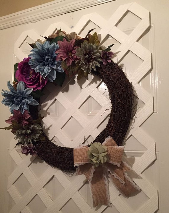 Victorian Wreath - Mother's Day - Spring Wreath - Summer Wreath - Door - Front Door Wreath - Elegant Wreath -  Garden Wreath -  Shabby Chic