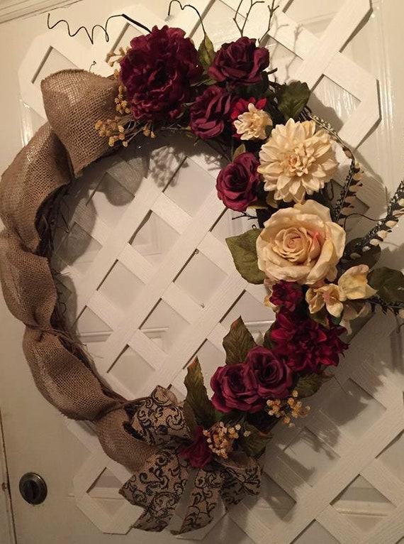 Everyday Wreath - Front Door Wreath - Rustic Farmhouse Decor - Farmhouse -  Farmhouse Wreath - Rustic Farmhouse Wreath - Front Door Wreath