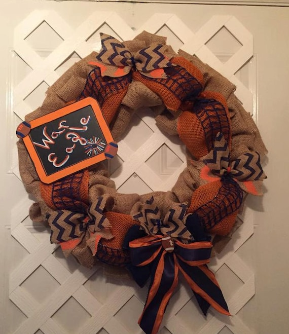 War Eagle Wreath - Auburn Tigers Wreath - SEC - Auburn Collegiate Wreath - Gus Bus Wreath - Tigers Collegiate Wreath - Auburn Burlap Wreath