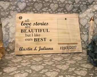 Gift For Bride & Groom - Our Love Story Sign - Personalize Wedding Gifts For Couple - Personalized Wedding Gift -  Bridal Shower Gift - Love