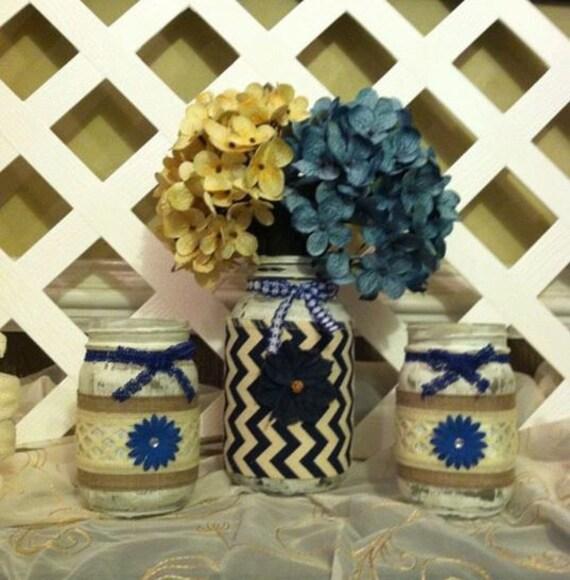 Distressed Home Decor: Distressed Mason Jars Home Decor Denim Mason Jars