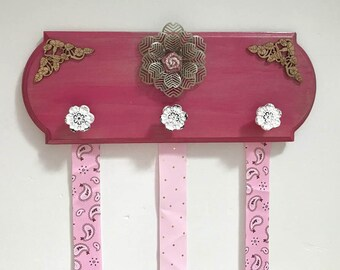 Hair Bow Holder - Bow Holder- Pink Hair Bow Holder - Bow Holder Organizer - Bow And Headband Holder - Bow And Headband Organizer - Girl