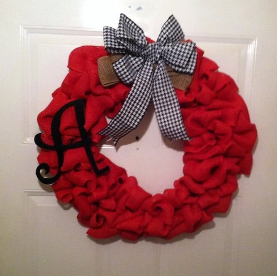 Everyday Wreath - Front Door Wreath - Roll Tide - Crimson Tide - SEC Football - SEC - Sports Wreath - Alabama - Bear Bryant - Nick Saban