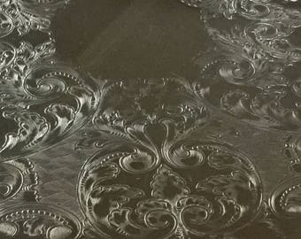 Lovely TOWEL scalloped ornate inlaid silverplated tray, great tray for display or serving, great wedding or shower gift
