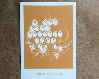 Honeycomb Thinking of You Postcard (10 pack)