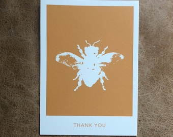 Single Bee Thank You Postcard (10 pack)